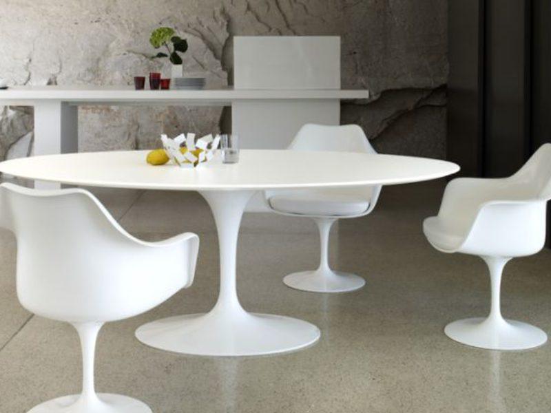 Tavolo Saarinen bianco by Alivar